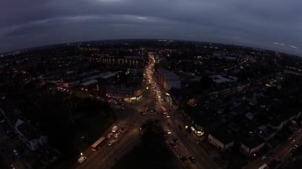 Mitham Roundabout at Night