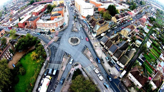 Mitcham Roundabout at Day