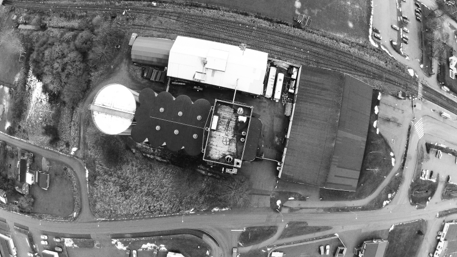Silo From Above